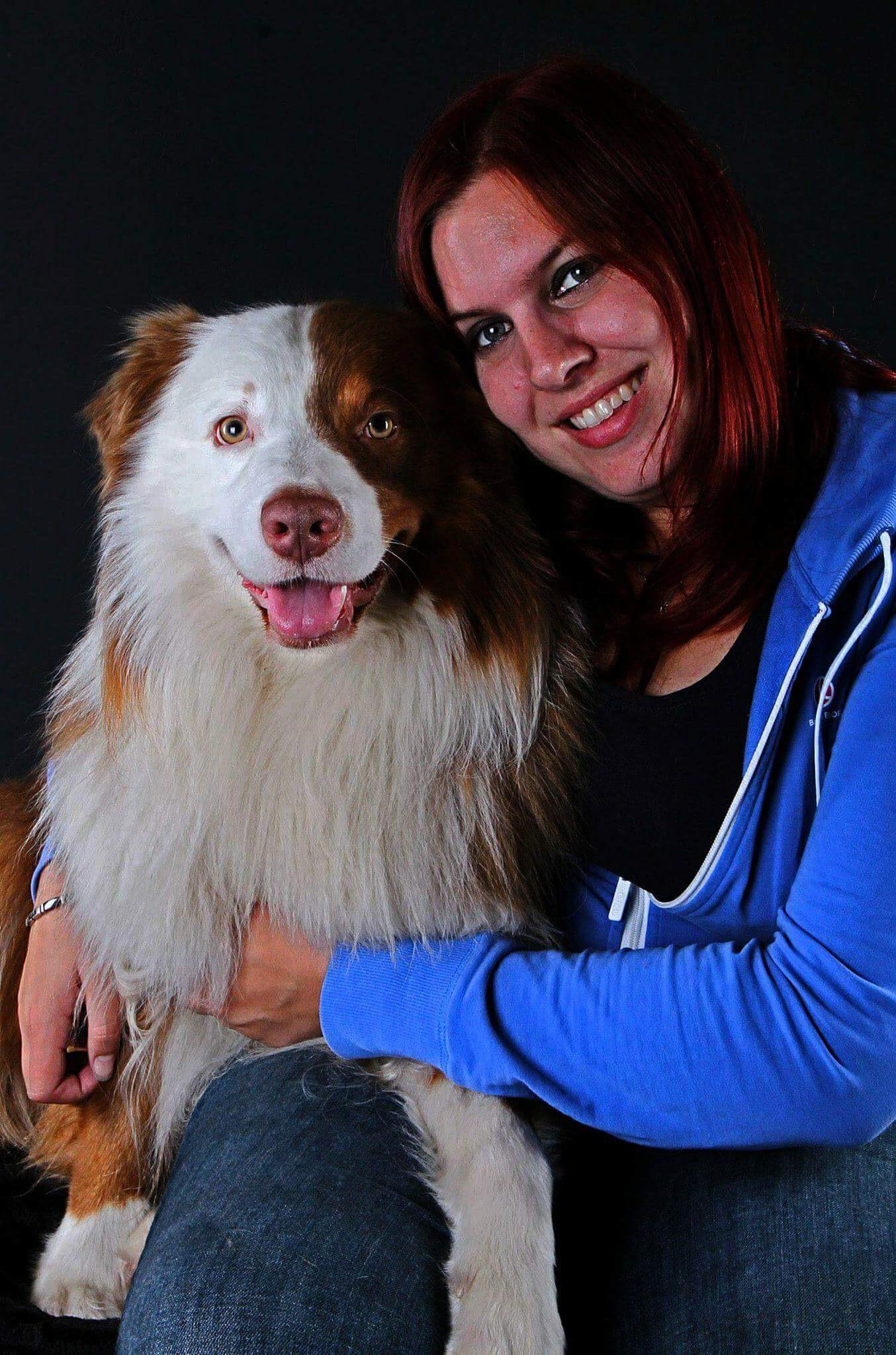 Mariska met haar hond